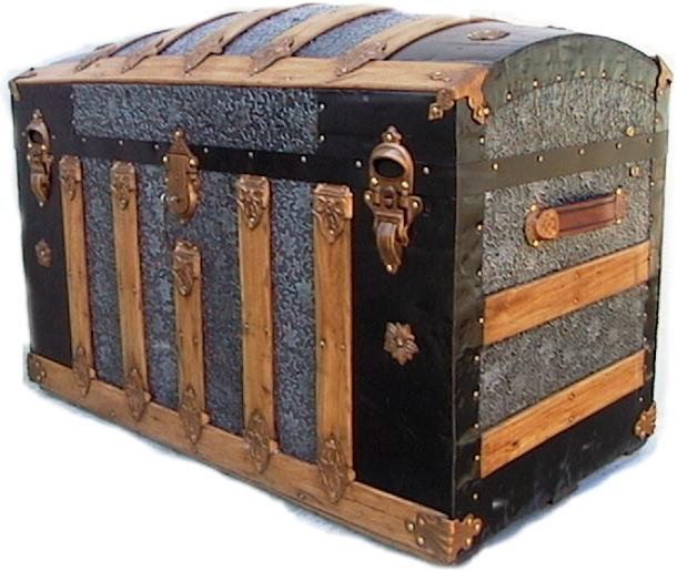 Antique Trunk History and Vintage Steamer trunk Information main page