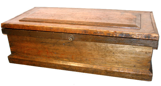 Vintage carpenter wood tool box photos for Old wooden box ideas